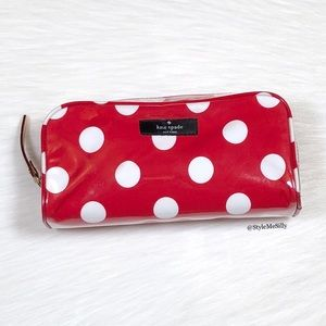 "Kate Spade ""Patchin Place Spot"" cosmetics case"